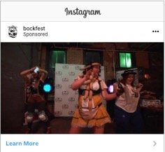 Cincinnati Bockfest 2019 social strategy screenshot of instagram